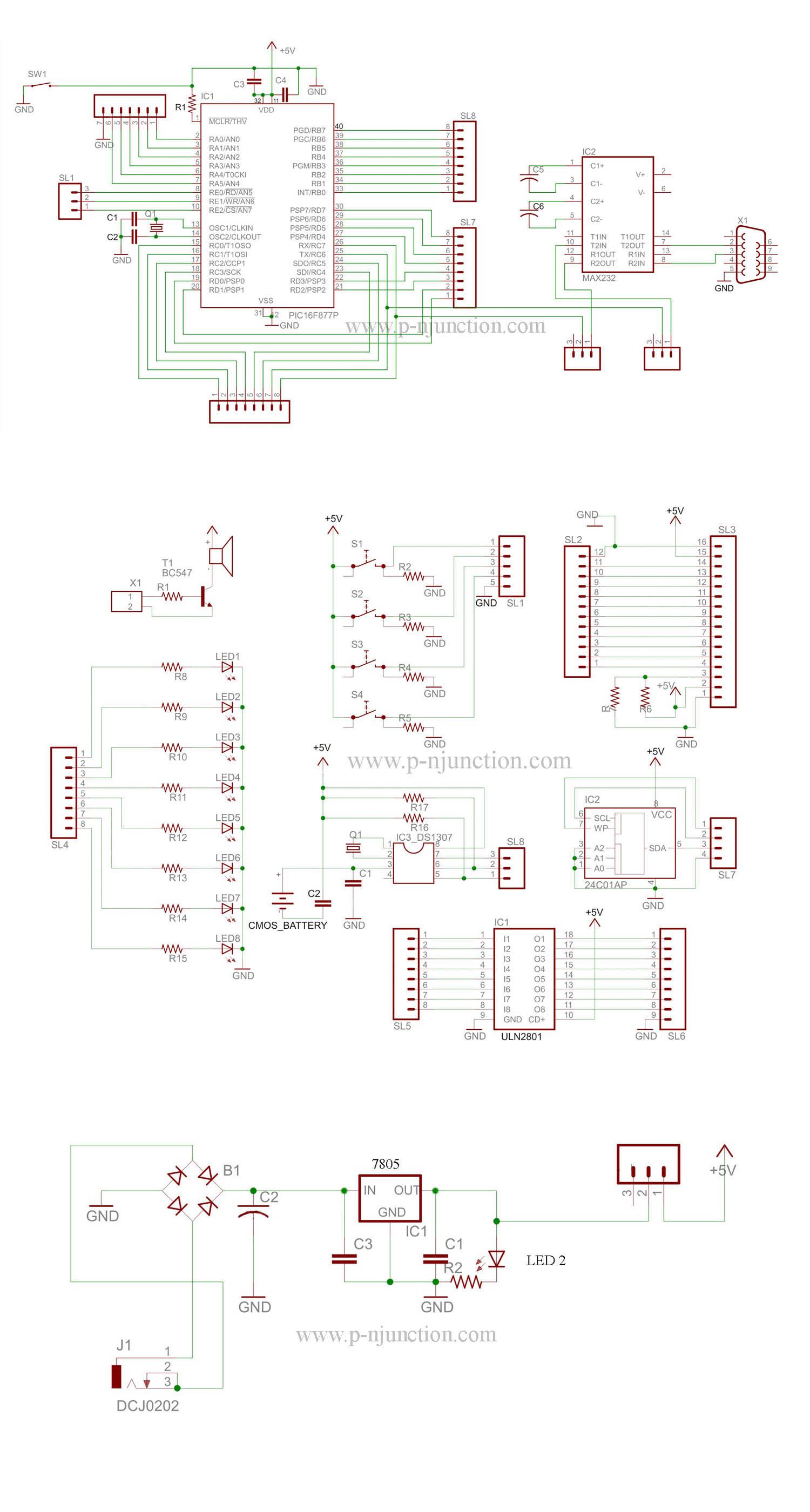 40 pin PIC development board circuit