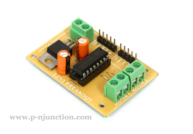 L293 Breakout Board Dc Stepper Motor Controller Pn